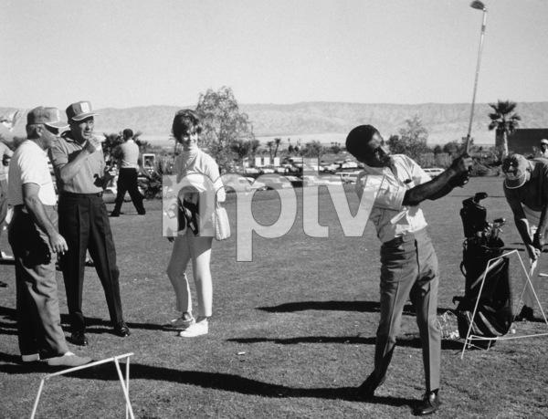 Frank Sinatra, Jill St. John, Bo Wininger and Sammy Davis Jr. at the Canyon Country Club in Palm Springs for The Frank Sinatra Invitational Golf Tournament1963Photo by Lester Nehamkin** G.L. - Image 0009_2211