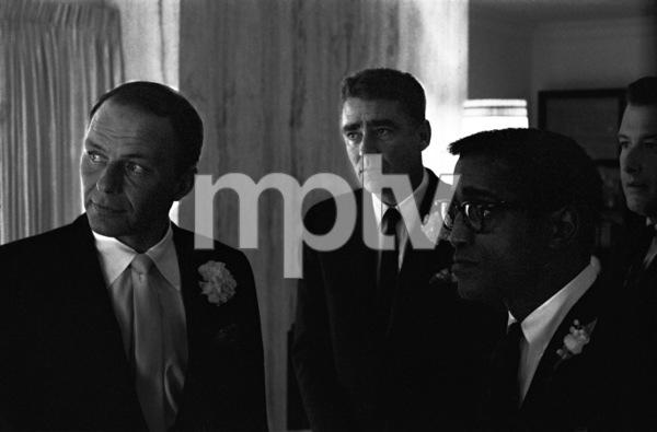 Frank Sinatra, Peter Lawford, Sammy Davis Jr. and Arthur Silber Jr. on Sammy and May Britt