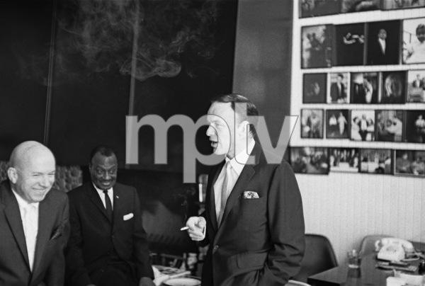 Jimmy Van Heusen, Will Mastin and Frank Sinatra at Sammy Davis Jr.