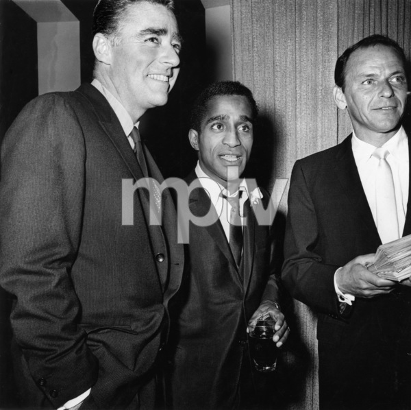 Sammy Davis Jr. on his wedding day with Peter Lawford and Frank Sinatra 1960** A.H. - Image 0009_2383
