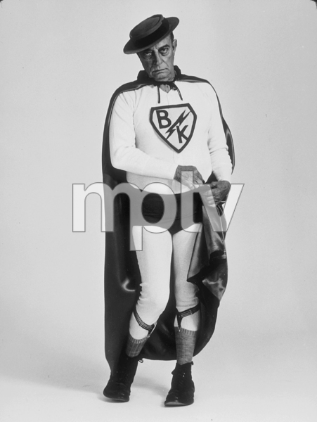 """Buster Keaton as """"Superman"""" for a U.S. Steel advertisement, 1964. © 1978 Sid Avery MPTV - Image 0014_0048"""