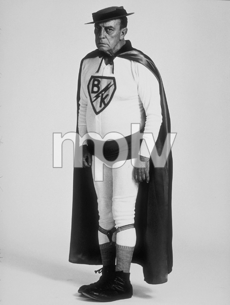"""Buster Keaton as """"Superman"""" for a U.S. Steel advertisement, 1964. © 1978 Sid Avery MPTV - Image 0014_0049"""