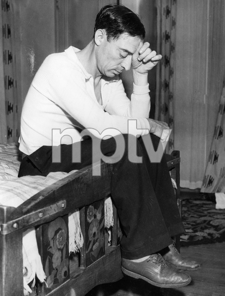 Buster Keaton at  home during divorce litigation from wife Mae, 1935, I.V. - Image 0014_0696