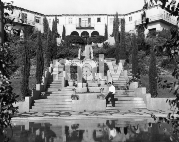 Buster Keaton at his Beverly Hills mansion, the Italian Villa1929** I.V. - Image 0014_0711