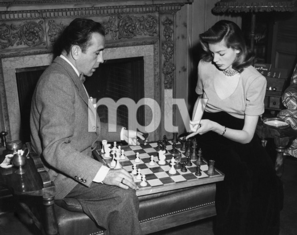 Humphrey Bogart and Lauren Bacall at their Benedict Canyon home circa 1949 - Image 0015_1282