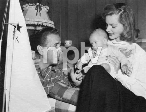 Humphrey Bogart, Lauren Bacall, and son, Stephen, at home1949 - Image 0015_1477