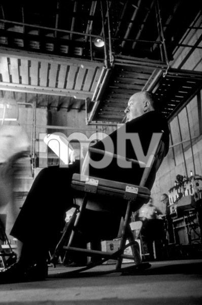 """Alfred Hitchcock on the set of""""Alfred Hitchcock Presents.""""1956/CBS. © 1978 Gene Trindl - Image 0017_0039"""