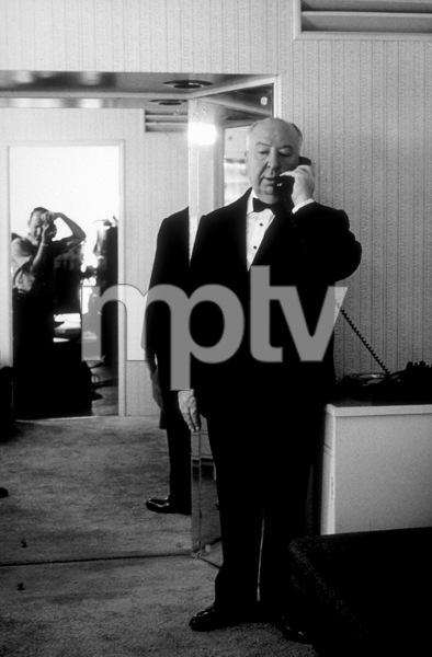"Alfred Hitchcock on the set of""Alfred Hitchcock Presents.""1956/CBS. © 1978 Gene Trindl - Image 0017_0053"