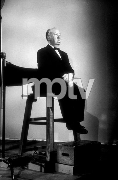 "Alfred Hitchcock on the set of""Alfred Hitchcock Presents.""1956/CBS. © 1978 Gene Trindl - Image 0017_0057"