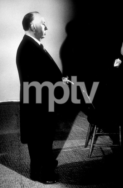 """Alfred Hitchcock on the set of""""Alfred Hitchcock Presents.""""1956/CBS. © 1978 Gene Trindl - Image 0017_0058"""