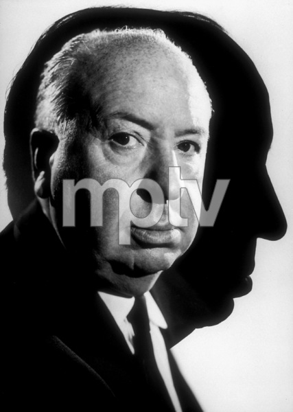 """Alfred Hitchcock on the set of""""Alfred Hitchcock Presents."""" © 1962 CBSPhoto by Gabi Rona - Image 0017_0354"""