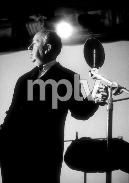 """Alfred Hitchcock on the set of""""Alfred Hitchcock Presents.""""January 12, 1956/CBS. © 1978 Gene Trindl - Image 0017_0511"""
