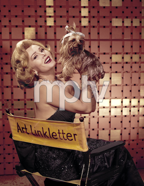 Zsa Zsa Gabor with pet dog1959© 1978 Sid Avery - Image 0018_0164