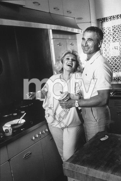 Zsa Zsa Gaborwith  Prince Frederic Von Anhaltat home in Beverly Hills Circa. 1988 © 1988 Gunther - Image 0018_0273