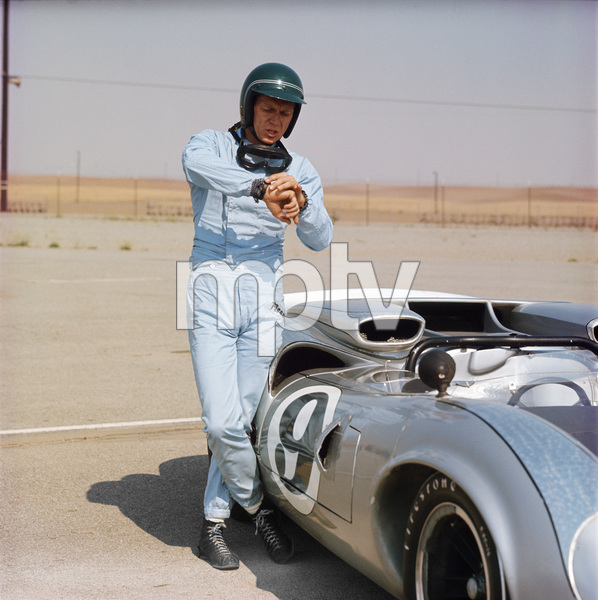 Steve McQueen and his Lola at Riverside Raceway in Riverside, California 1966 © 1978 Chester Maydole - Image 0019_0837