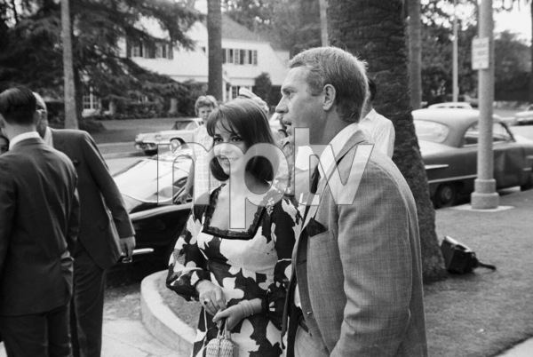 Natalie Wood and Steve McQueen at a Luci Baines Johnson barbecue (1964 250 GT Lusso Ferrari)1964 © 1978 Chester Maydole - Image 0019_1161