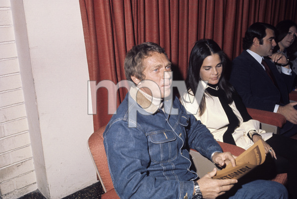 """Steve McQueen and Ali MacGraw at a screening of """"The Getaway""""1972© 1978 Gary Lewis - Image 0019_1172"""