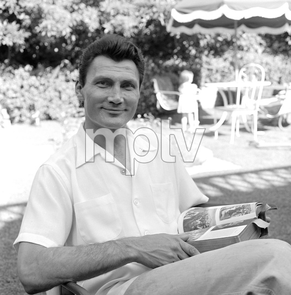 Jack Palance at home in Beverly Hills, California1954 © 1978 Sid Avery - Image 0021_0462