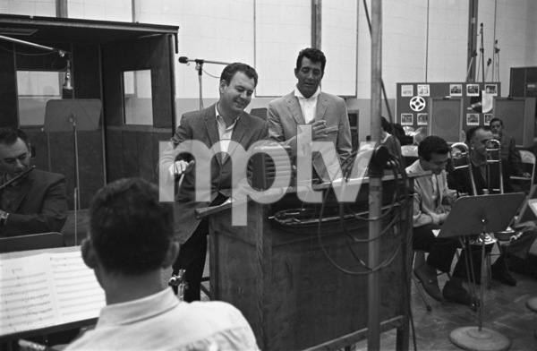 Nelson Riddle and Dean Martin at a recording session1961 © 1978 Sid Avery - Image 0022_1239