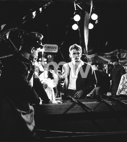 """James Dean in carnival shooting rangescene from """"East of Eden.""""1955 Warner / MPTvPhoto by Floyd McCarty - Image 0024_0252"""