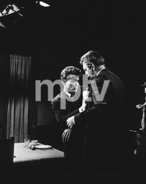 "James Dean and Raymond Massey in ""East of Eden.""1955 Warner / MPTVPhoto by Floyd McCarty - Image 0024_0254"