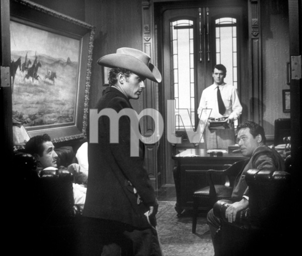 """James Dean and Rock Hudson in """"Giant.""""1955 Warner / MPTVPhoto by Floyd McCarty - Image 0024_0472"""