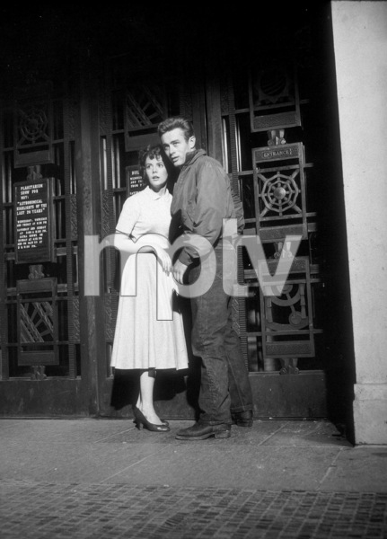 """James Dean and Natalie Wood in """"Rebel Without A Cause.""""1955 Warner / MPTV - Image 0024_0486"""
