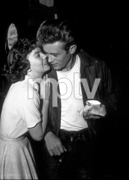 """James Dean and Natalie Wood in""""Rebel Without A Cause.""""1955 Warner / MPTV - Image 0024_2158"""
