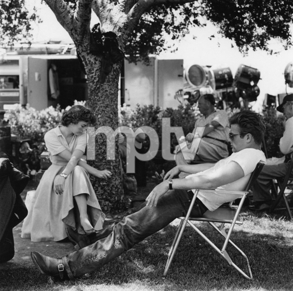 """James Dean and Natalie Wood during the making of """"Rebel Without a Cause""""1955© 1978 Sid Avery - Image 0024_2439"""