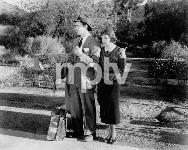 """""""It Happened One Night,""""Clark Gable and Claudette Colbert.1934 Columbia - Image 0025_0360"""