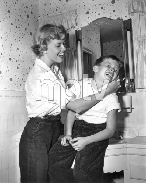 Doris DayWashing behind son Terry
