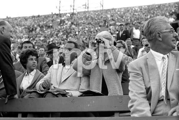 Doris Day and Martin Melcher at a baseball gamecirca 1959 © 1978 Bernie Abramson - Image 0025_2404