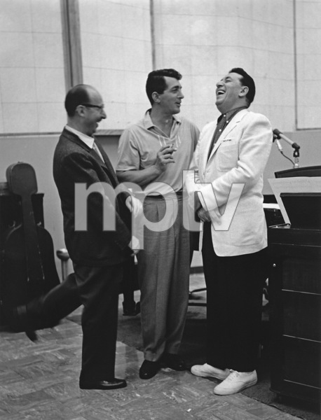 Sammy Cahn with Dean Martin and Louis Prima in Hollywood, California1959 © 1978 Sid Avery - Image 0031_0002