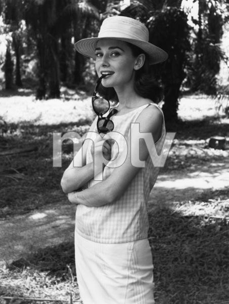 "Audrey Hepburn on the set of ""The Nun"