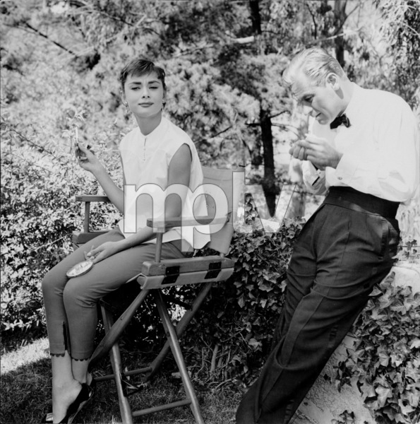 "Audrey Hepburn and William Holden on the set of ""Sabrina"" 1953© 2000 Mark Shaw   - Image 0033_2378"