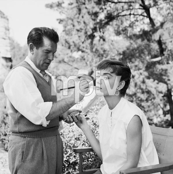"""Audrey Hepburn on the set of """"Sabrina""""1953© 2000 Mark Shaw - Image 0033_2570"""