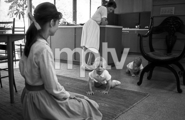 Audrey Hepburn with son, Sean Ferrer, and Dorothy Willoughby with her son, Christopher Willoughby1961 © 1978 Bob Willoughby - Image 0033_3002