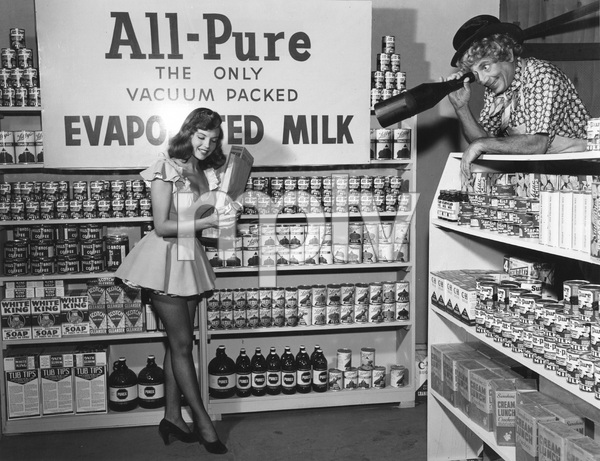 Harpo Marx in an ad for All-Pure Evaporated Milk 1957 © 1978 Sid Avery  - Image 0034_0035