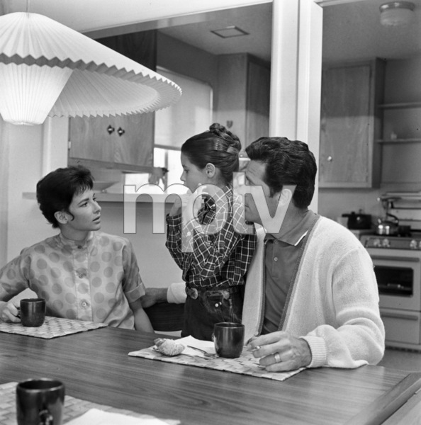 James Garner with wife Lois Garner and step-daughter Kimberly September 15, 1958 © 1978 Sid Avery - Image 0037_0112