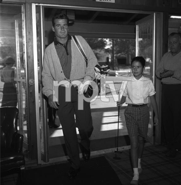 James Garner golfing with his step-daughter Kimberly circa 1958 © 1978 David Sutton - Image 0037_0812