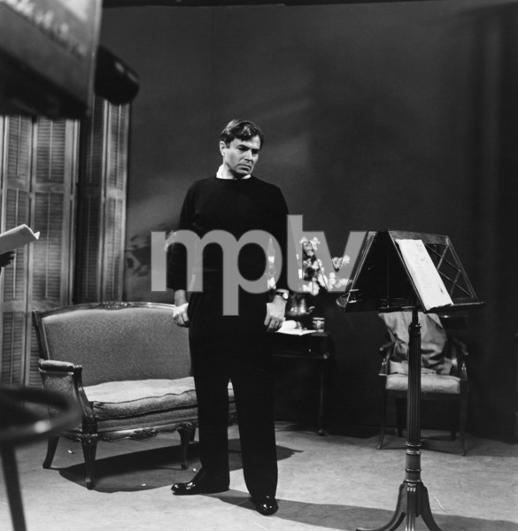 James Mason at NBC Studios in Hollywood, California1955 © 1978 Sid Avery - Image 0038_0003