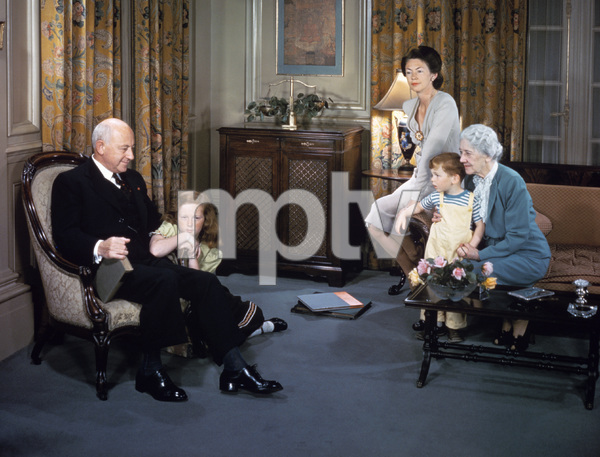 Cecil B. DeMille and family1952 © 1978 Paul Hesse - Image 0040_0152
