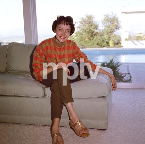Carolyn Jones at homeC. 1958 - Image 0042_0114