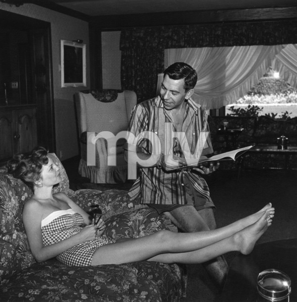 Jack Webb at home with his wife, Julie London1953 © 1978 Sid Avery - Image 0068_0004
