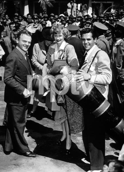 James Cagney, Lucille Ball, andDesi Arnaz, c. 1950.**I.V. - Image 0069_2074