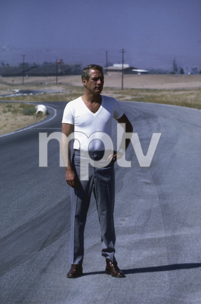 """Paul Newmanon loaction at Riverside Raceway in California for filming of """"Winning""""1968 © 1978 David Sutton - Image 0070_2285"""