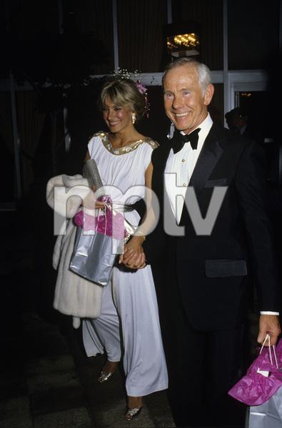 Johnny Carson and Alexandra (Alexis) Maascirca 1987© 1980 Gary Lewis - Image 0072_0781