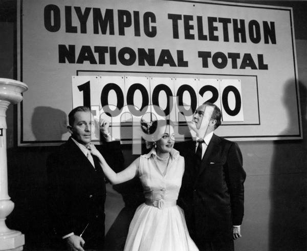 Bing Crosby, Dorothy Lamour, Bob HopeFirst TV appearance / CBSOlympic Telethon (1952)Photo by Gabi Rona - Image 0073_2007
