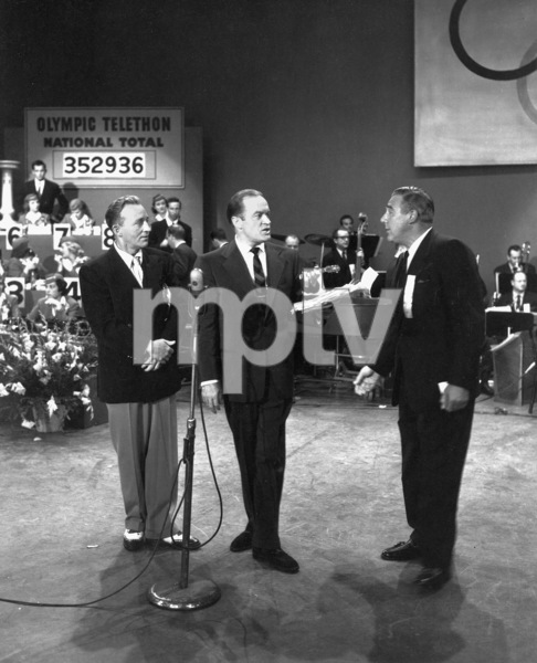 Bing Crosby, Bob Hope, Paul DoglasFirst TV appearance / CBSOlympic Telethon (1952)Photo by Gabi Rona - Image 0073_2008