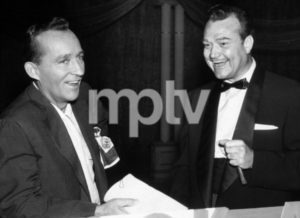 Bing Crosby and Red Skelton receiving Cook Award1955Photo by Gabi Rona - Image 0073_2025